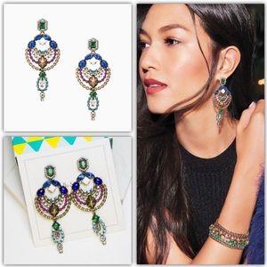 Stella Dot Prisma Statement Chandeliers Earrings